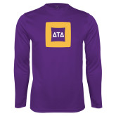 Performance Purple Longsleeve Shirt-Badge