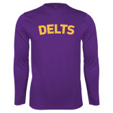 Syntrel Performance Purple Longsleeve Shirt-Delts