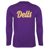 Performance Purple Longsleeve Shirt-Delts Script