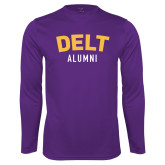 Performance Purple Longsleeve Shirt-Delt Alumni