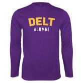 Syntrel Performance Purple Longsleeve Shirt-Delt Alumni