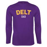 Syntrel Performance Purple Longsleeve Shirt-Delt Dad