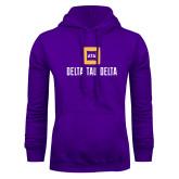Purple Fleece Hoodie-Stacked Signature
