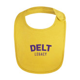 Yellow Baby Bib-Delt Legacy