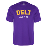 Performance Purple Tee-Delt Alumni