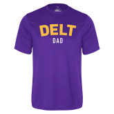 Performance Purple Tee-Delt Dad