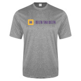 Performance Grey Heather Contender Tee-Horizontal Signature
