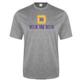 Performance Grey Heather Contender Tee-Stacked Signature