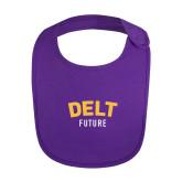 Purple Baby Bib-Delt Future