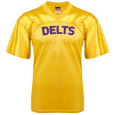 Replica Gold Adult Football Jersey-Arched Delts