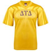 Replica Gold Adult Football Jersey-Greek Letters