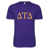 Next Level SoftStyle Purple T Shirt-Greek Letters