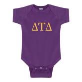 Purple Infant Onesie-Greek Letters
