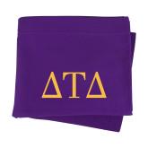 Purple Sweatshirt Blanket-Greek Letters