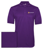 Purple Dry Mesh Polo-Horizontal Signature