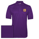 Purple Dry Mesh Polo-Badge
