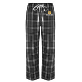 Black/Grey Flannel Pajama Pant-Stacked Signature