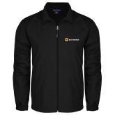 Full Zip Black Wind Jacket-Horizontal Signature