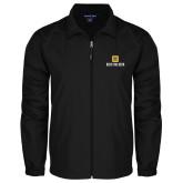 Full Zip Black Wind Jacket-Stacked Signature