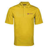 Gold Mini Stripe Polo-Horizontal Signature
