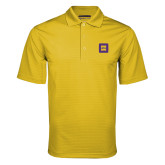 Gold Mini Stripe Polo-Badge