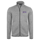 Grey Heather Fleece Jacket-Delts