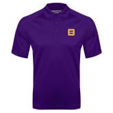 Purple Textured Saddle Shoulder Polo-Badge