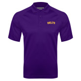 Purple Textured Saddle Shoulder Polo-Delts