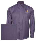 Red House Deep Purple Herringbone Long Sleeve Shirt-Stacked Signature