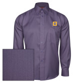 Red House Deep Purple Herringbone Long Sleeve Shirt-Badge