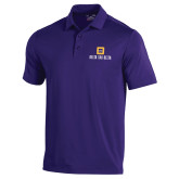 Under Armour Purple Performance Polo-Stacked Signature
