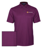 Purple Performance Fine Jacquard Polo-Horizontal Signature