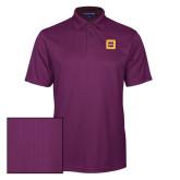 Purple Performance Fine Jacquard Polo-Badge