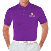 Callaway Opti Vent Purple Polo-Stacked Signature