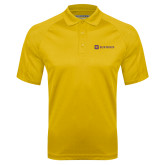 Gold Textured Saddle Shoulder Polo-Horizontal Signature