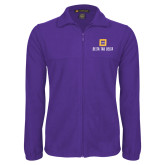 Fleece Full Zip Purple Jacket-Stacked Signature