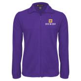 Fleece Full Zip Purple Jacket-Stacked Signature