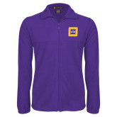Fleece Full Zip Purple Jacket-Badge