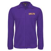 Fleece Full Zip Purple Jacket-Delts