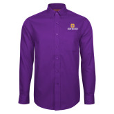 Red House Purple Long Sleeve Shirt-Stacked Signature