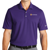 Nike Golf Dri Fit Purple Micro Pique Polo-Horizontal Signature
