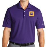 Nike Golf Dri Fit Purple Micro Pique Polo-Badge