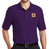 Purple Easycare Pique Polo-Badge