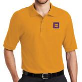 Gold Easycare Pique Polo-Badge
