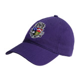 Purple Twill Unstructured Low Profile Hat-Crest