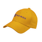Gold Heavyweight Twill Pro Style Hat-Horizontal Signature