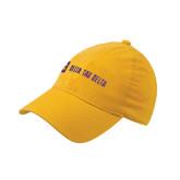 Gold Flexfit Mid Profile Hat-Horizontal Signature