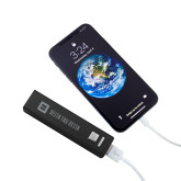 Aluminum Black Power Bank-Horizontal Signature Engraved