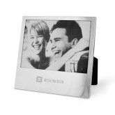 Silver 5 x 7 Photo Frame-Horizontal Signature Engraved