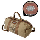 Canyon Realtree Camo Canvas Duffel-Greek Letters Engraved Engraved